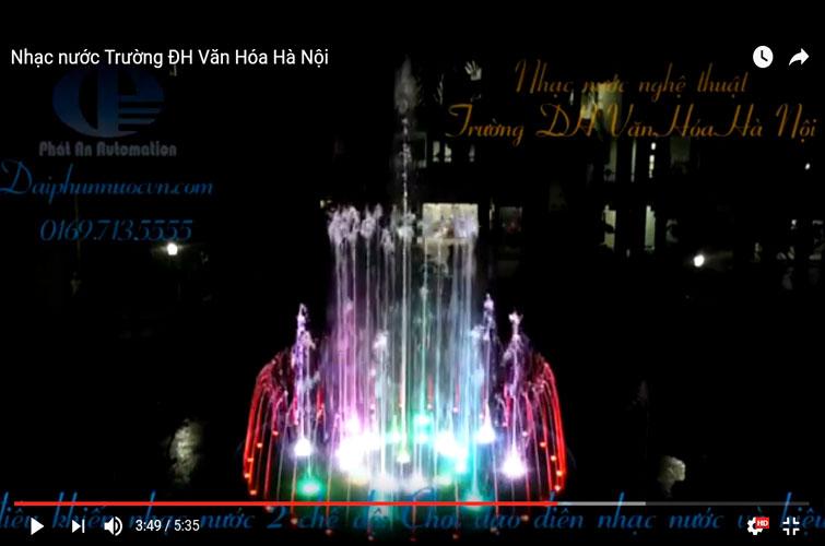 Thiết kế thi công nhạc nước Trường ĐH Văn Hóa Hà Nội