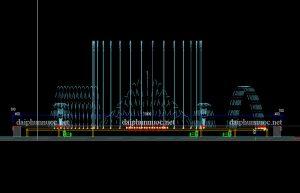 Bản vẽ thiết kế đài phun nước - Nhạc nước nghệ thuật1